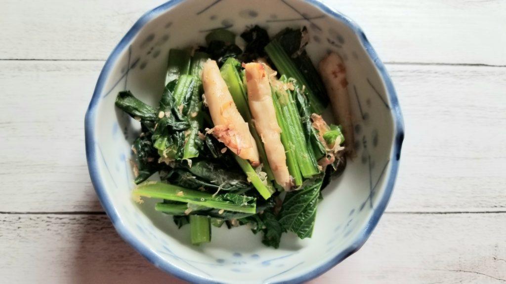 小松菜としめじの炒め物