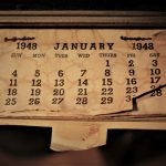 休日も同じ時間に起きる カレンダー画像