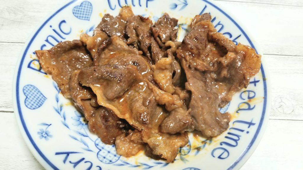 フロムファーム 豊西牛味付きカルビ(300g) 焼いた画像